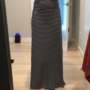 Women's Tart XS Maxi Skirt Navy/white Stripe